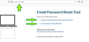 reset change forgotten roadrunner email password